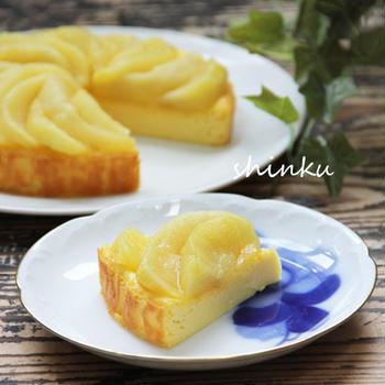 簡単*アップルベイクドチーズケーキ