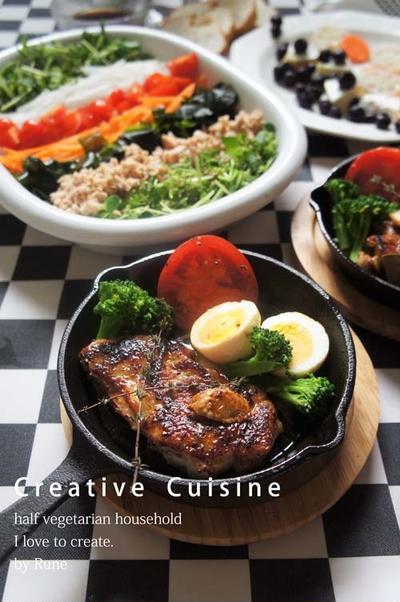 スパイス大使レシピ★レストラン並み!塩麹&ハーブde柔らか鶏モモ肉のアヒージョ