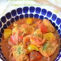 バスク風【チキンのトマト煮込み】鶏むね肉でもお肉しっとり~♡