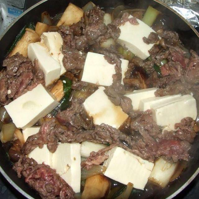 豆腐と牛肉の中華風煮もの&ブロッコリーのゴマ和え