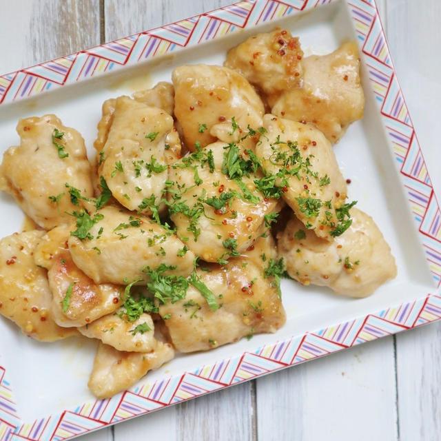 簡単、お手軽に作れるおかずレシピ♪ *鶏むね肉の麺つゆマスタード炒め*