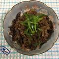 牛肉のしぐれ煮♪ 小松菜の炊いたん♪ けんちん汁♪