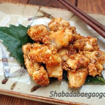 鶏むね肉の甘味噌焼き