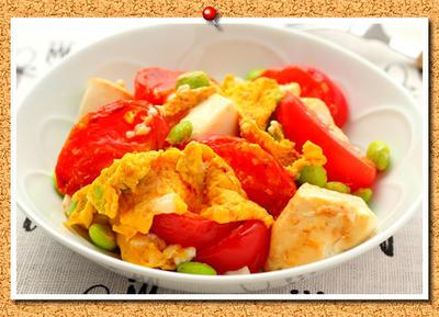 トマトと豆腐入り!スクランブルエッグ。