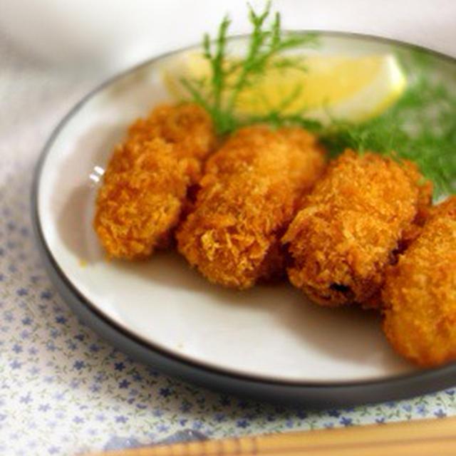 牡蠣フライと白菜ブランダードの小鉢