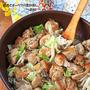 キャベツ1/2個ペロリ♪ヘルシー鶏もも肉とキャベツのフライパン重ね蒸し!十五夜