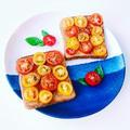 5分で完成!プチトマトトーストの美肌朝食レシピ☆(ライ麦・ギー・トマト・オレガノ)