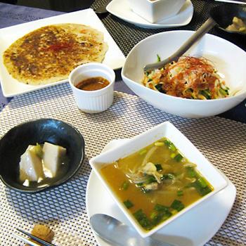 里芋づくしの韓国風ディナー
