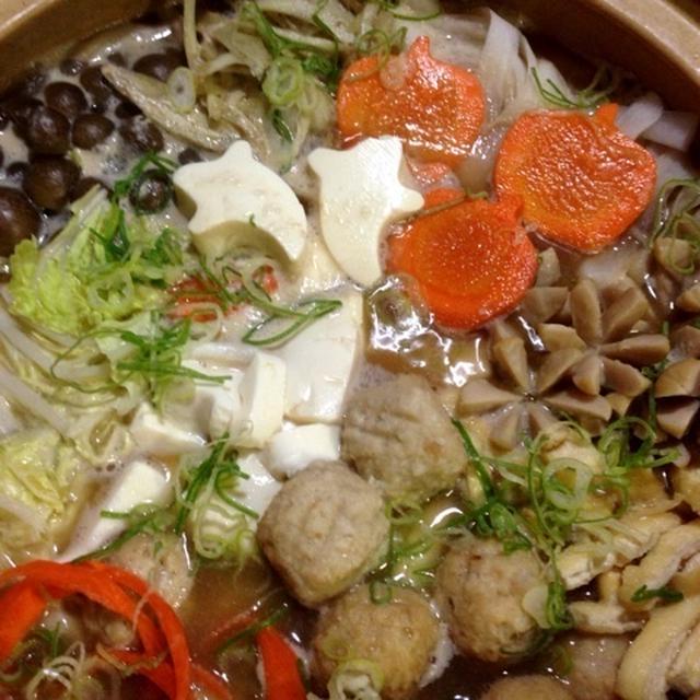 とんこつ醤油鍋つゆを使って♪「根菜たっぷり鍋」