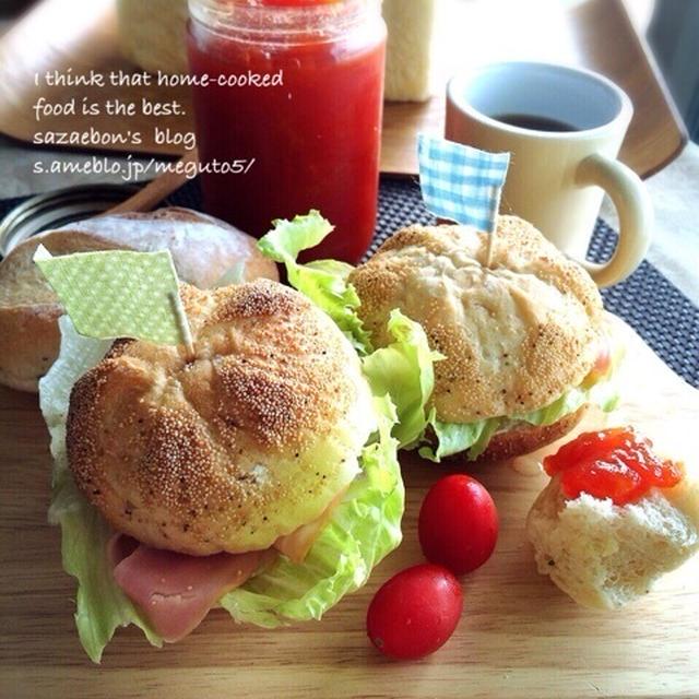 カイザーロールとプチパン(ドイツパン)♡朝ごはん