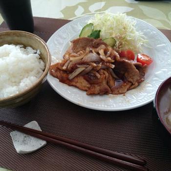 生姜焼き定食(平成25年1月10日のまかない)