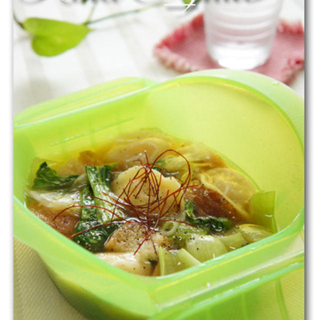 水餃子とチンゲン菜のアホスープ
