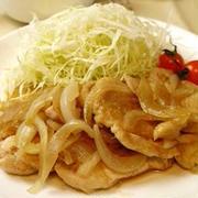 鶏胸肉の柔らか生姜焼き