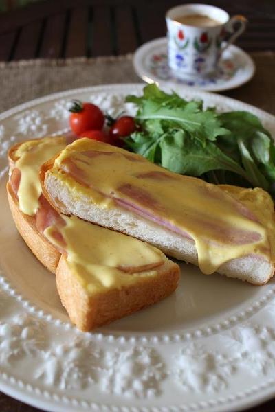 スピードレシピ&時短朝食<ねりからしマヨハムトースト>