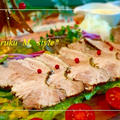 赤ワインソースで頂く豚肉の赤ワイン煮込み&頂き物
