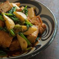 小カブと厚揚げのピリ辛炒め他 〜 収穫野菜で(2)
