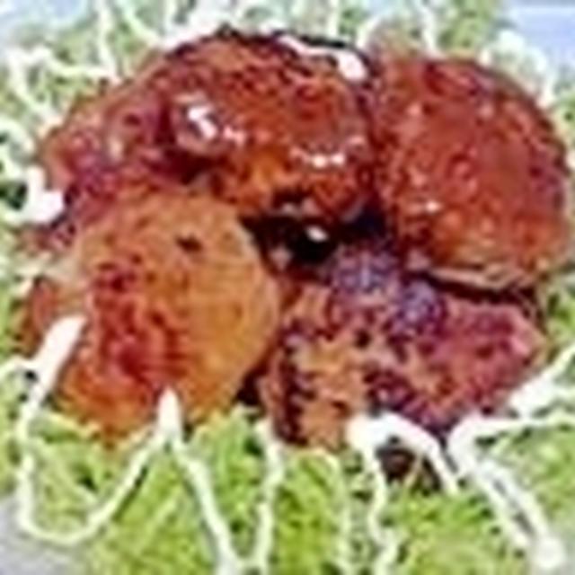 豚挽き肉ハンバーグ、味噌豚丼の甘辛タレで美味しく♪