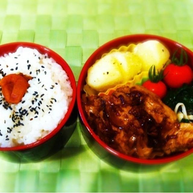 バチマグロの梅酢生姜焼き