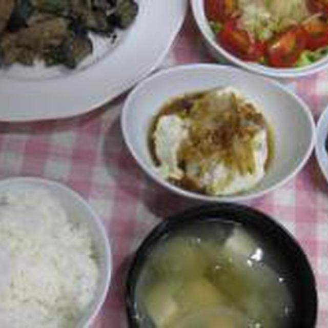 今日の夕食。(6月25日)