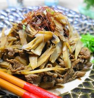 舞茸とごぼうと牛肉の甘辛煮♪舞茸とごぼうたっぷり~♪