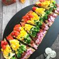 夏バテを吹き飛ばす!レインボーカラーのベジタブルピッツァ