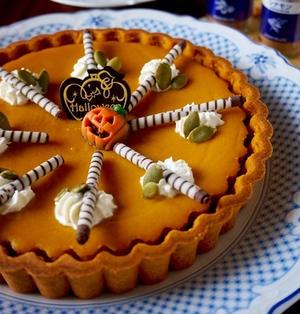 ナツメグとシナモン香る♪かぼちゃとレーズンのタルト * スパイス大使