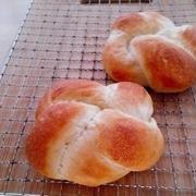 お花編みパン♪たまご焼きサンド♪ミニ食パン♪エビチリマヨトースト♪
