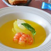 白い玉ねぎのサフランスープ煮♪
