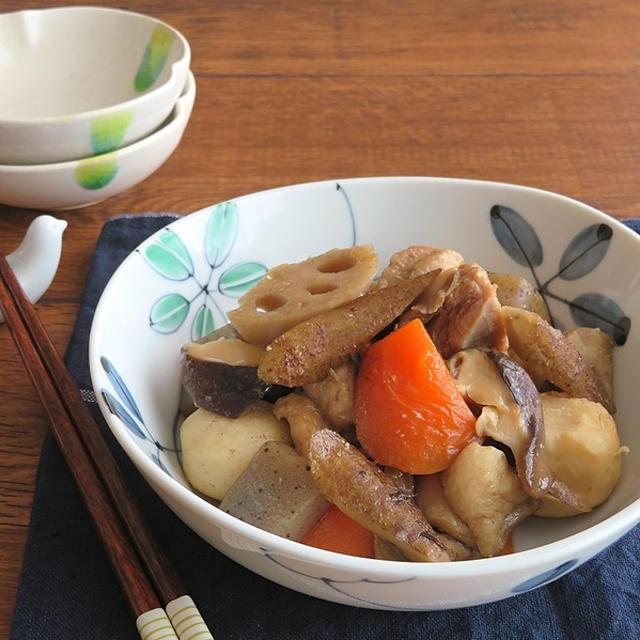 めんつゆで簡単☆にんにくみそ風味の筑前煮