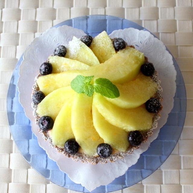 バニラヨーグルトカスタードのメロンタルト:レシピ