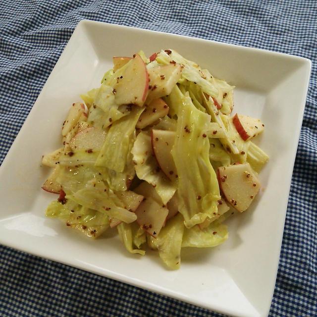 簡単作りおきおかず♪キャベツとりんごのマリネ風サラダ♪