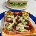 三太郎用です。ピザトースト&ハムチーズサンド♡