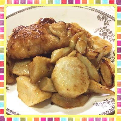 鶏むね肉・ごぼう・里芋の簡単旨煮(レシピ付)