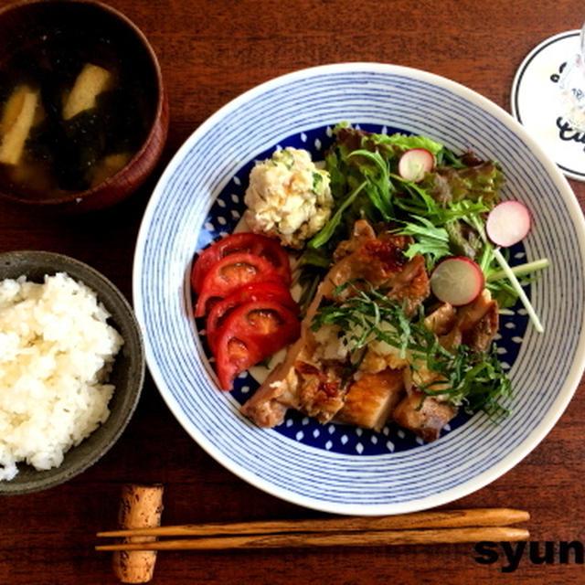 【簡単!!カフェごはん】おろしそチキンで和定食
