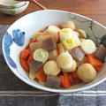 めんつゆで簡単☆ごま油風味で食欲そそる和総菜◎根菜の炒め煮