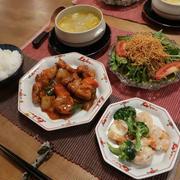 """""""黒酢酢鶏""""で中華な晩ご飯 と 今年のシクラメン♪"""