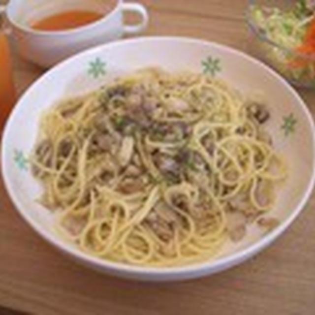4種のキノコのスパゲティ