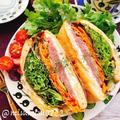 生ハムとクリームチーズの油揚げサンド(動画レシピ)/Lowcarbo Sandwiches.