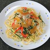 からすみと水菜のスパゲッティ