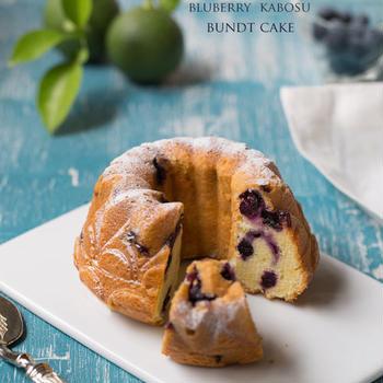 ブルーベリーとヨーグルトのバントケーキ