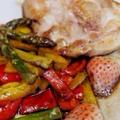いちごのフルブラde鶏肉と野菜のソテー