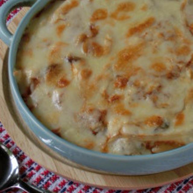 とろとろ・シャキシャキ☆食感が楽しい!豆腐のキムチ煮チーズ焼き