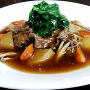 牛筋の柔らか煮込み(ワイン風味) 久保田 涼シェフのレシピ