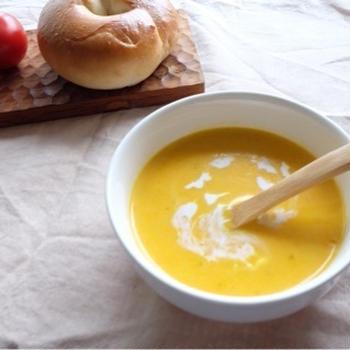 レンチンで簡単!カボチャのスープ