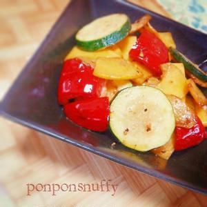カラフル夏野菜のマヨネーズソテー