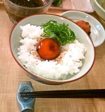"""卵黄の醤油漬け ~ 凝縮された旨み、 """"贅沢卵かけご飯"""" に❀❀❀"""