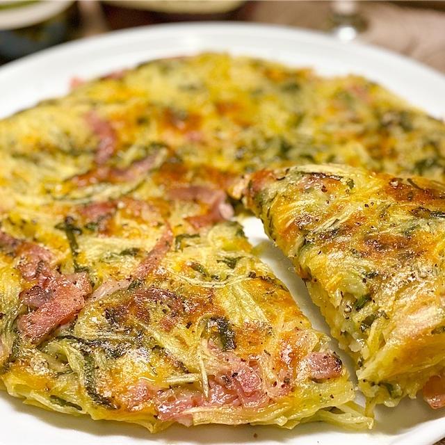 【レシピ】大葉ベーコンチーズのじゃがいもガレット