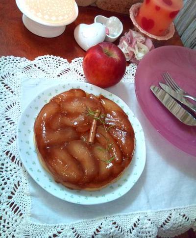 アップル&ローズマリータルトタタン ❄ Apple & Rosemary Tarte Tatin