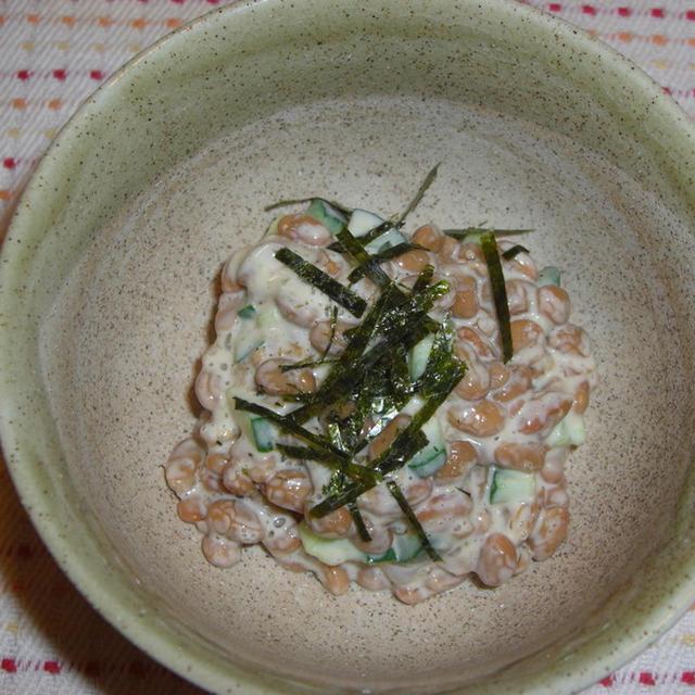 納豆の味噌マヨサラダ