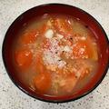 トマトとコーンのスープ